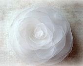 WHITE Wedding Hair Flower, White Bridal Hair Flower Clip, White Flower Girl Hair Accessory, White Bridal Hair Accessory, White Wedding