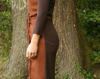 SAMPLE SALE/ S/Woolen wrap dress