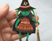 Dress Up Bunny Buddy Brooch Little Witchy Bunny