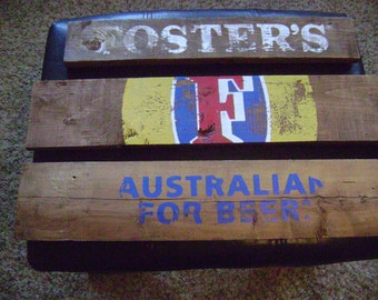 Beer Signs Foster's-Reclaimed Wood