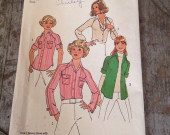 Vintage Simplicity Sewing Pattern 7912 Misses' Size 14 Shirts