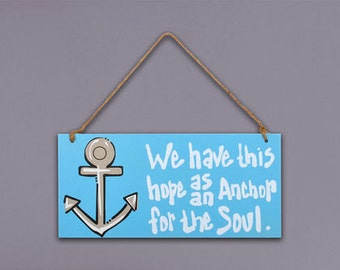 6x13 Anchor wooden wall Plaque
