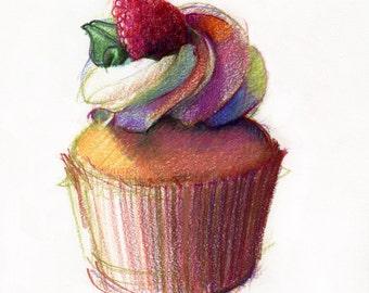 Cupcake Colored Pencil DRawing