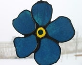 Forget-Me-Not Flower- 5 inch stained glass flower