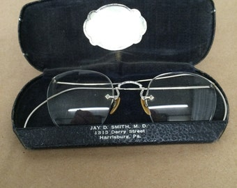 Vintage Glasses with Case