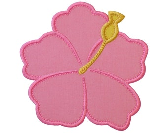"""Hibiscus Flower v2 Hawaiian Applique Machine Embroidery Designs Pattern in 4 sizes 3"""", 4"""", 5"""" and 6"""""""