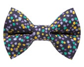 "Cat Bow Tie - ""The Dance Party"" -  Multi Dot"