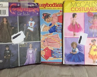 3 Patterns: Simplicity Tudor Pattern 5520 McCall's M5950 Butterick Busybodies 3786