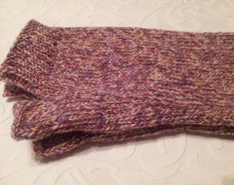 Pure merino wool fingerless gloves. Soft wool arm warmers. Hand knitted.