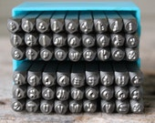 SALE-Tootsie Roll Font Metal Stamp Set-4mm-Uppercase/Lowercase-Metal Supply Chick-Steel Stamps for Metal-Can be used on Stainless-TRCHCOMB
