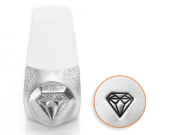 Metal Stamp-Diamond Design Stamp ImpressArt- 6mm Metal Stamping Tool-Steel Stamp-Metal Supply Chick