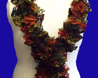 autumn lace scarf