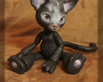 Scratch the Cat - Midnight Black Resin - ball joint doll / BJD - Spots #1