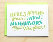 New Neighbors - Moving Card