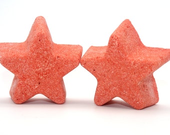 2 Star Shaped Bath Bombs - bath fizzy, bath fizzies, bath bombs, twinkle twinkle, baby shower favor, cast party, emmys, oscars, party favor