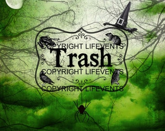 Spooky Halloween Trash & Recycling Signs - Printable | Digital File