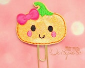 Cutie Pumpkin Glitter Planner Clip