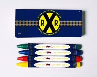 Railroad Crayon Favors (Great Favors that won't end up in the trash)