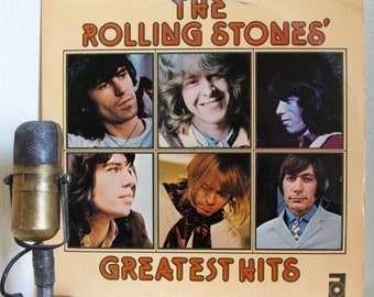 """ON SALE The Rolling Stones Vinyl Record LPs 1970s British Classic Rock and Roll Mick Jagger Keith Richards """"Greatest Hits"""" (1977 Import Abko"""