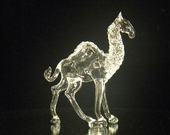 Large glass camel