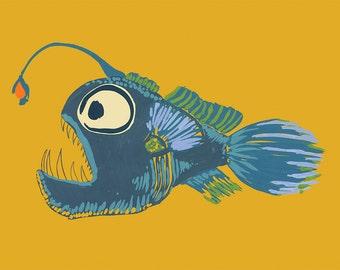 A4 Angler Fish Print