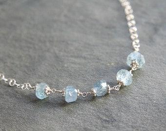 Aquamarine Nugget Necklace