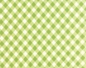 Moda Vintage Picnic Fabric Bonnie & Camille Fabric Green Gingham Fabric Green Plaid Fabric Quilting Fabric - By The 1/2Y