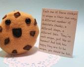 Plushie Soft Happy Chocolate Chunk Kawaii Cookie with Card