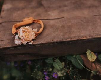 Vanilla Spice stretch tie back Headband
