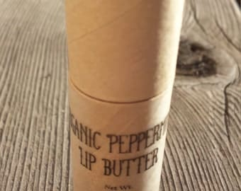 Organic Peppermint Lip Butter