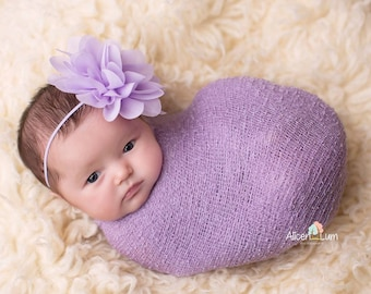 Lavender Headband, Baby Girl Headband, Newborn Photo Prop, Photography Prop, Baby Girl Prop, MANY COLORS AVAILABLE