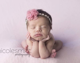 Rhinestone Headband, Baby Girl Headband, Baby Bling, Newborn Photo Prop, Photography Prop, Baby Headband