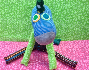 OOAK alfred handmade stuffed animal dinosaur dragon