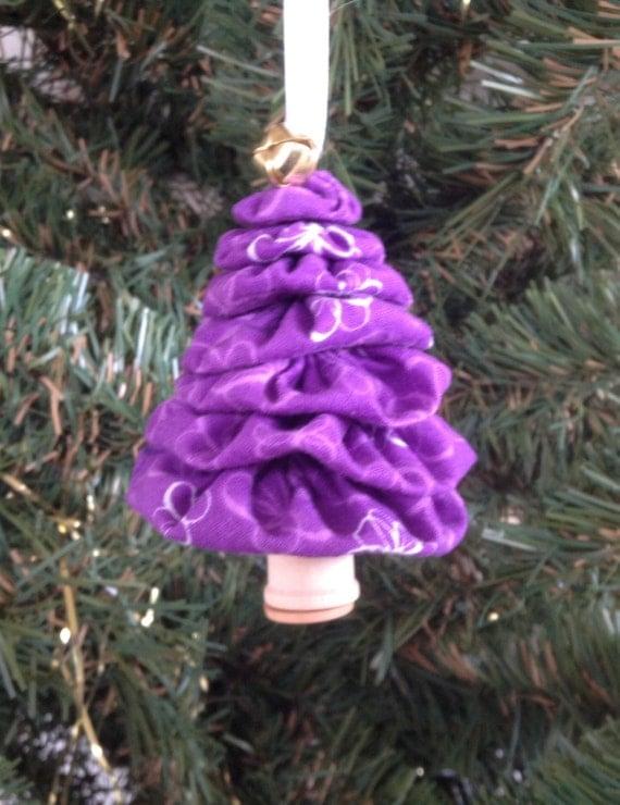 Christmas Tree Flower Power : Primitive purple flower power yo christmas by
