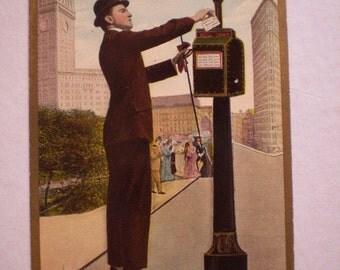 orig postcard  activity Near FLATIRON Building 1910