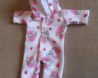 """101 Dalmations ooak romper to fit 6-7"""" doll, sculpt baby SALE"""