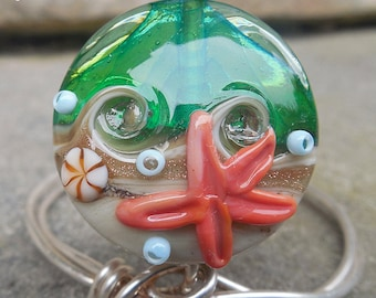 Beachcomber 29 SSL Lampwork Focal Bead