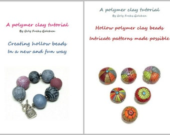 Polymer Clay Tutorial Combo How to Make Hollow Polymer Clay Beads + How to Add Intricate Patterns to Hollow Polymer Clay Beads