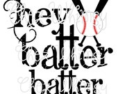 Baseball SVG, Hey Batter Batter SVG, for Cricut Cutters, Digital Files for Cutting, Vector Files for Cutting Machines, Hey Batter SVG