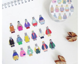 Bears Runway by aimez le style mt masking washi tape