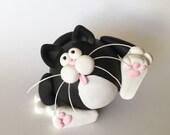 Polymer Clay Tuxedo Cat