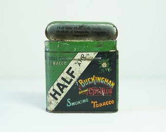 Vintage 1930 Lucky Strike & Buckingham Bright 'Half and Half' Tobacco Tin