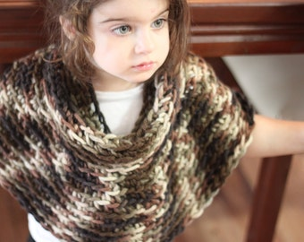 Toddle Reversible and Versatile Crocheted Turtle Neck Capelet