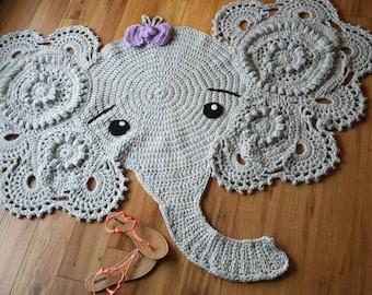 Free Crochet Elephant Rug Pattern : Elephant rug Etsy