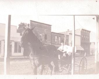 Horse and Buggy - RPPC - Vintage Photograph, Postcard, Ephemera, Vernacular (A)