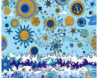 Sun & Sea Print Poster Art
