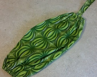 Grocery Bag Dispenser- Plastic Bag Holder- Green Print- 7021