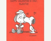 SALE Vintage Snoopy Peanuts Valentine's Day Card with Envelope Unused NOS Happy Valentine's Day