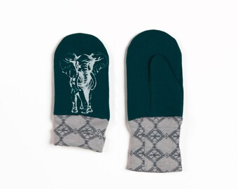 50% off: The Emerald and Elephant Print Mini Mitten