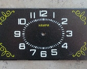 Vintage Soviet Alarm Clock Faces -- metal